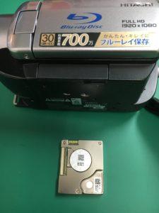 日立HDDビデオカメラDZ-BD10Hデータ復旧
