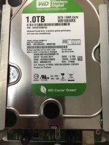 電源が入らないI・O DATA外付けHDD HDCA-U1.0データ復旧