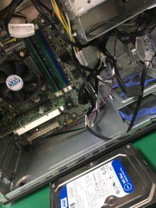 真っ黒い画面のまま起動しないDELLデスクトップ型PCのデータ復旧