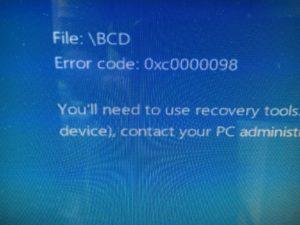 Recovery Error Code:0x0000098のDELLデスクトップPC修理